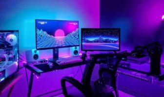 bureau professionnel de gaming - setup pro gamer