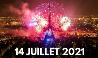 feu d'artifice du 14 juillet 2021 à la tour Eiffel Paris