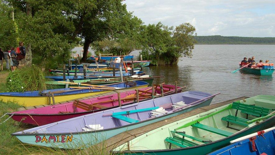 Vacances dans les Landes: courant d'Huchet en barque