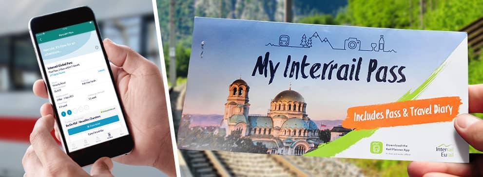 interrail pass : ticket papier et  mobile