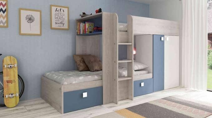 lit enfant combiné armoire