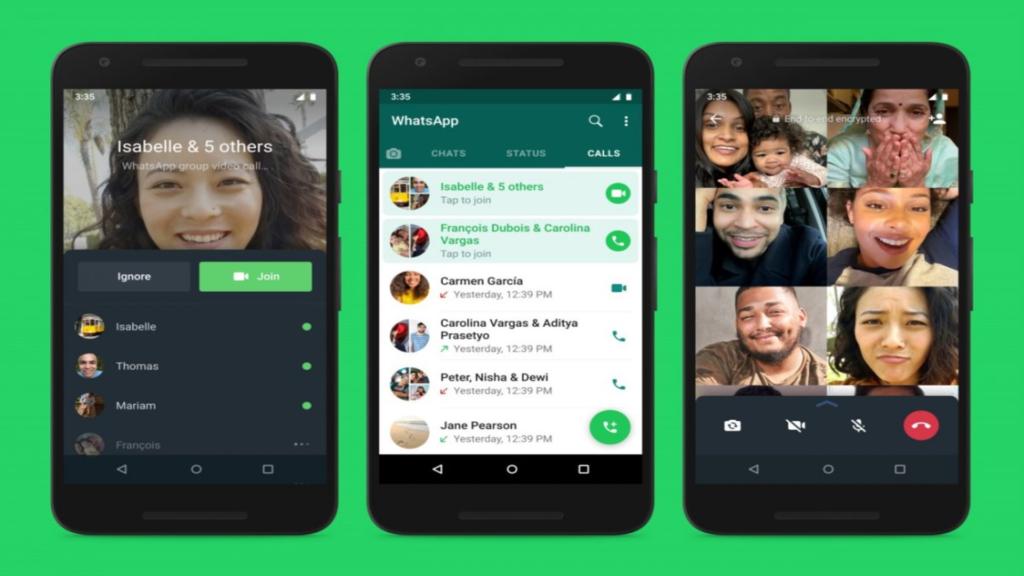 WhatsApp appel groupe en image