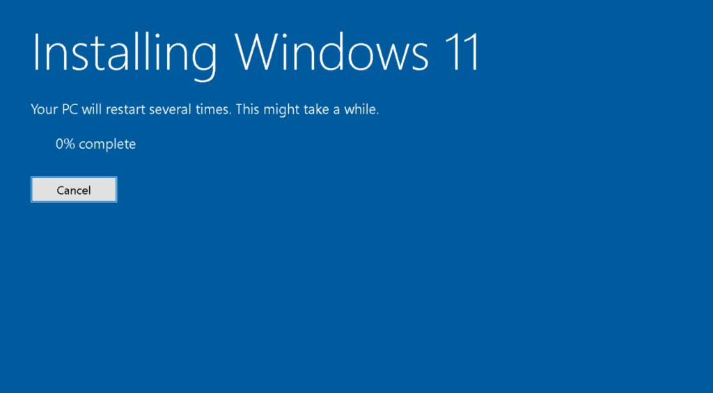 Erreur Windows 11