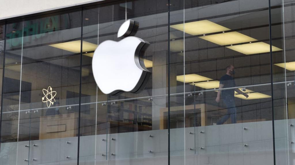 Logo et bâtiment Apple en image