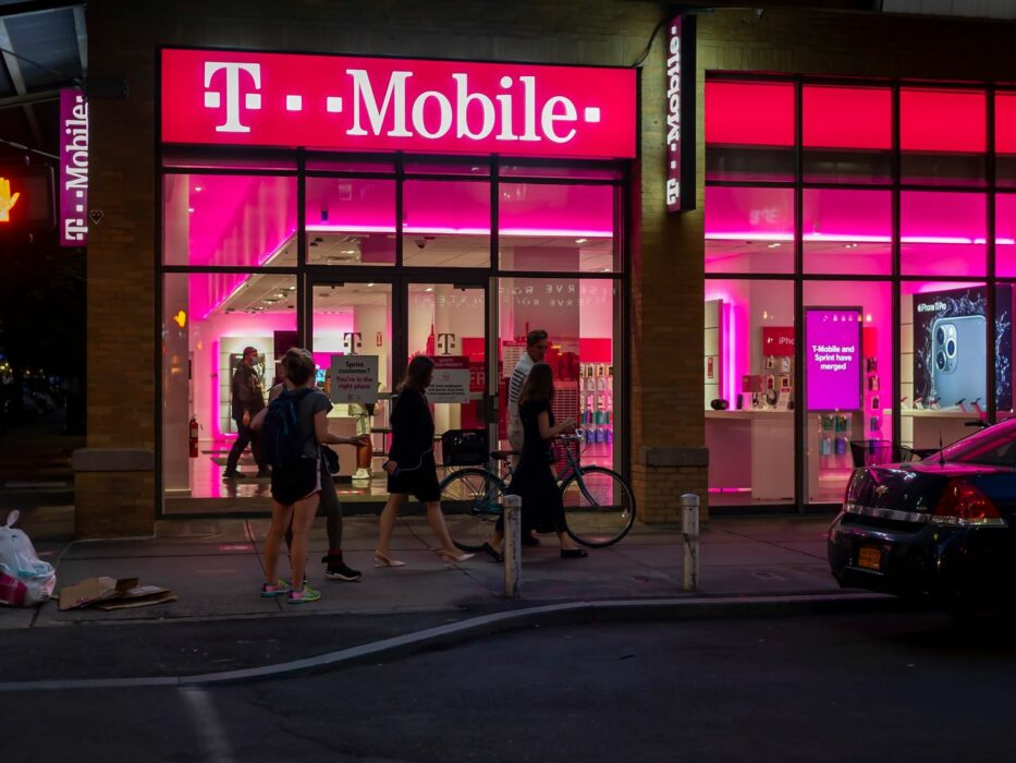 Une boutique de T-Mobile.