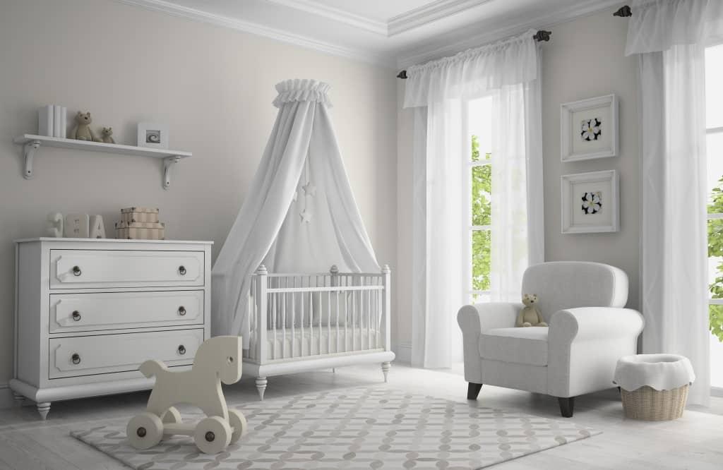 chambre bébé mixte blanc