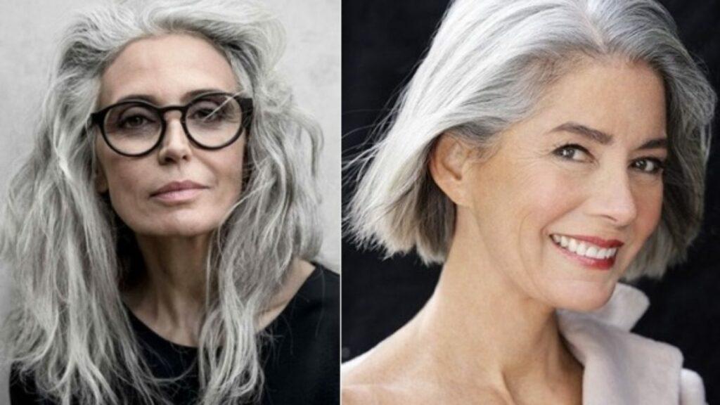 Quelle coupe avec des cheveux gris