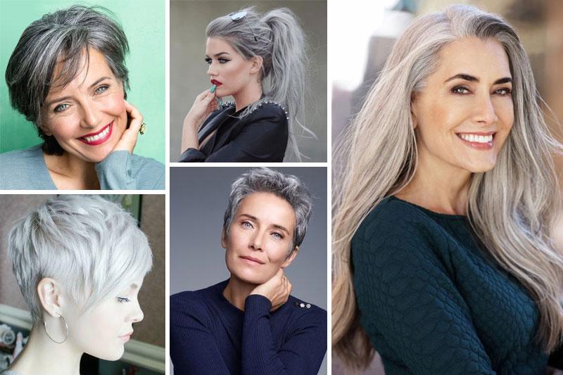 être sexy avec des cheveux gris
