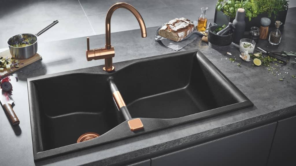 les évier sen matériaux composites dans les cuisines