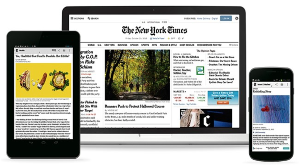 New York Times journal en image.