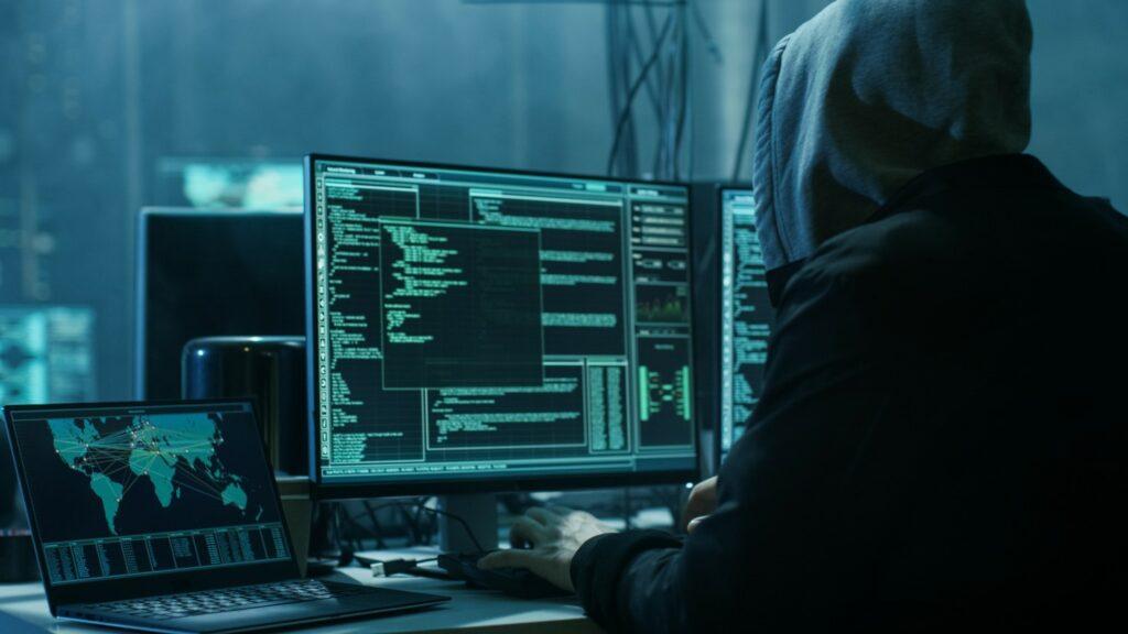 Un pirate informatique en image