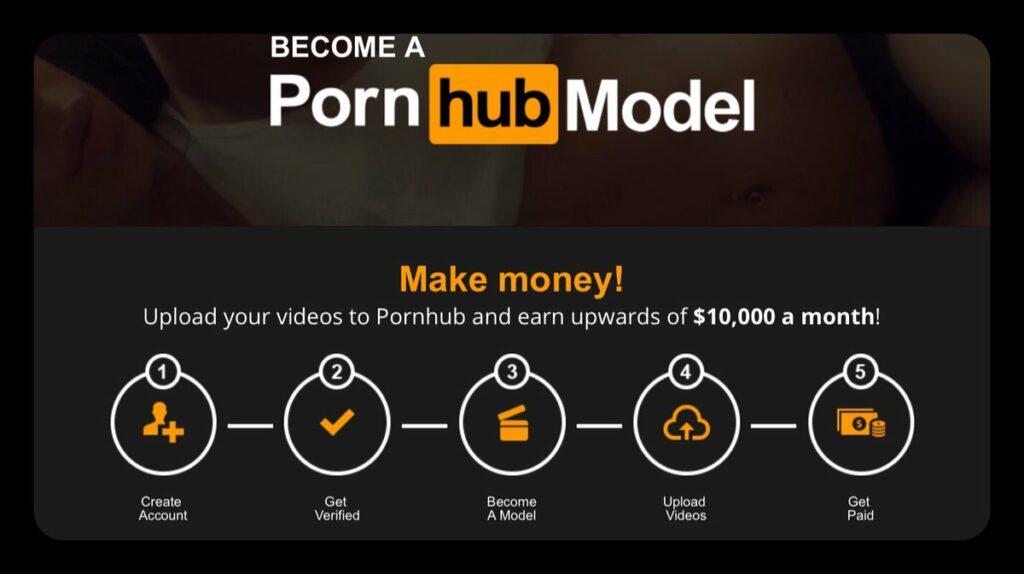 Programme modèles PornHub pour gagner de l'argent