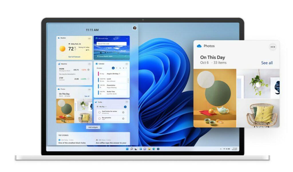 Design widgets Windows 11