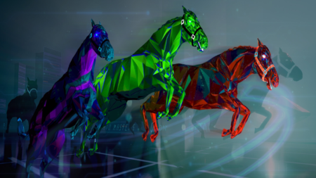 NFT Zed Run cheval en image
