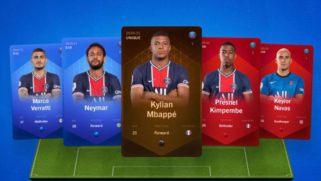 Des cartes de joueurs de foot en NFT