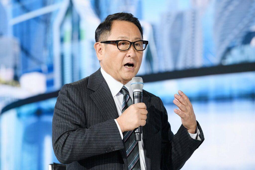 M. Akio Toyoda en image.