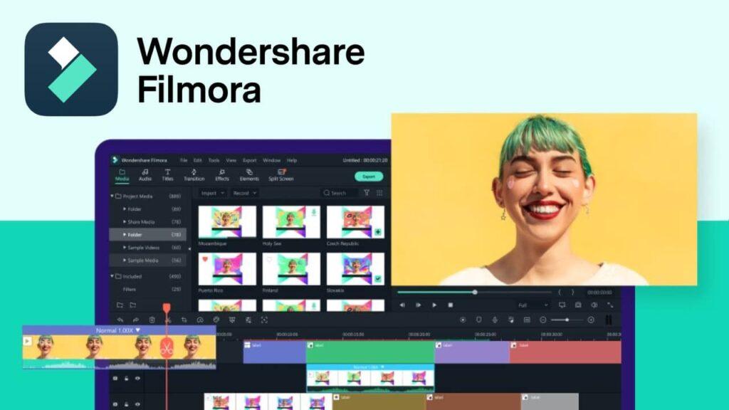 filmora wondershare : logiciel de montage vidéo