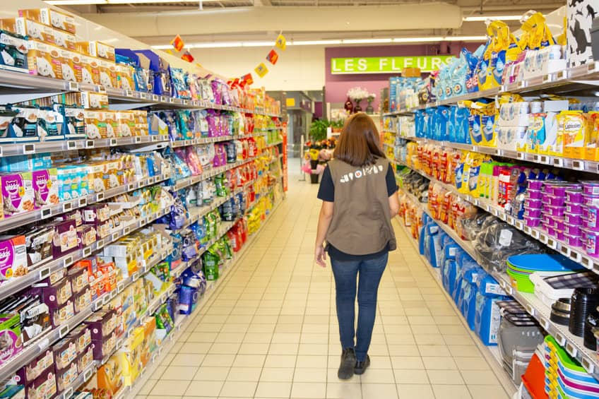 supermarché rayons