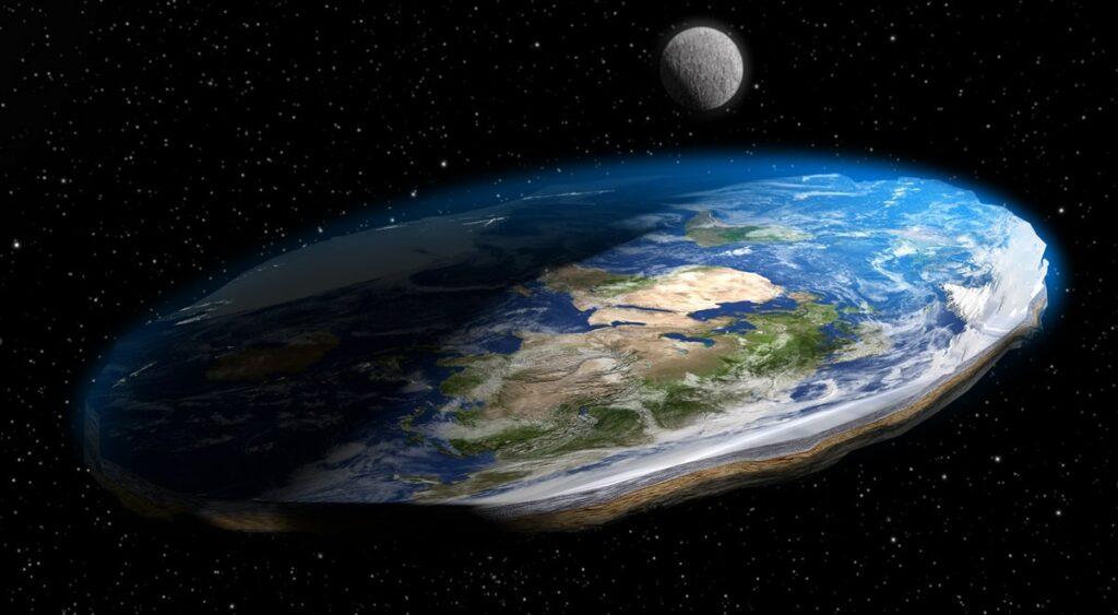 Photo d'une Terre plate