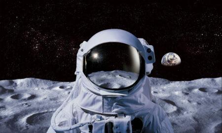 Théories de conspiration sur l'espace, astronaute sur la lune