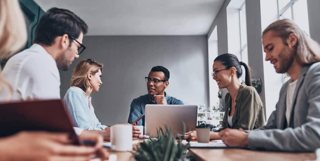 animation d'une réunion équipe en entreprise