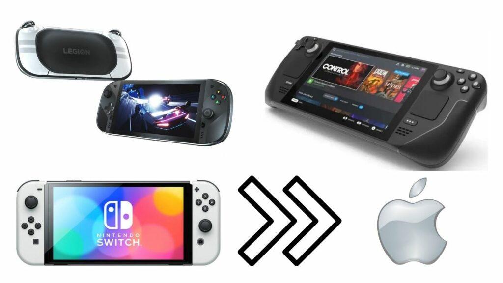 Les consoles Lenovo Legion, Nintendo Switch et Steam Deck de Valve