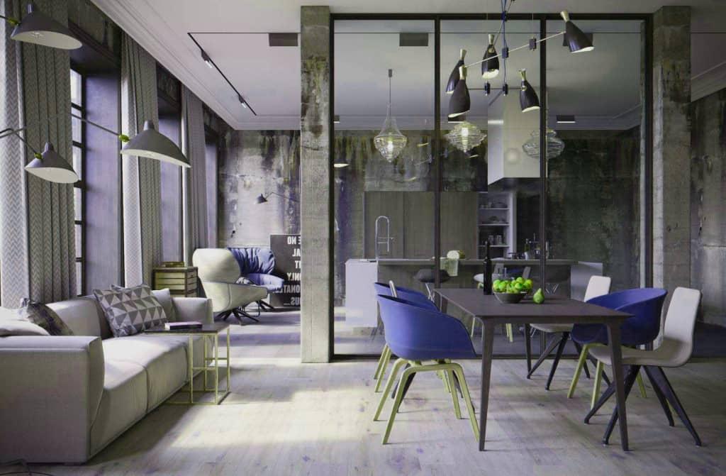 déco style loft industriel