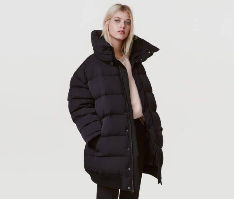 Doudoune oversize noire pour femme de chez H&M