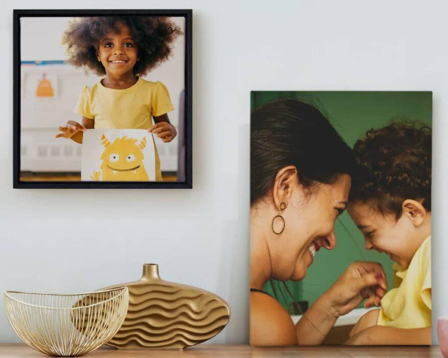 exemple de déco murale avec photo sur toile