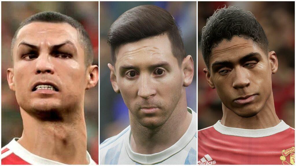 Les visages méconnaissables des stars du foot dans eFootball 2022.