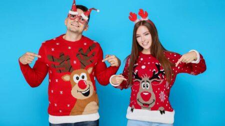 pull de Noël moche
