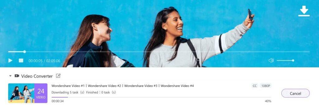 wondershare uniconverter télécharger vidéo